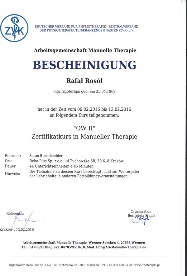 Certyfikat TM2